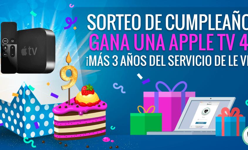 Sorteo de Le VPN: ¡Gana Apple TV 4K + 3 años del servicio de Le VPN!