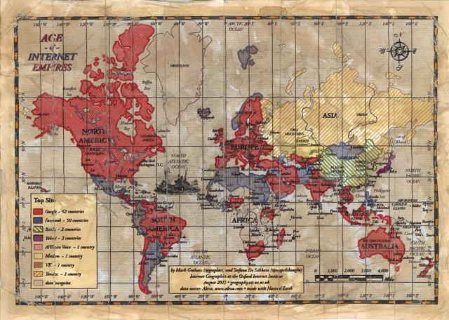 La carte mondiale des sites les plus visités | Le VPN