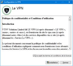 Installez Le VPN