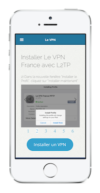 Installer VPN sur iPhone avec L2TP