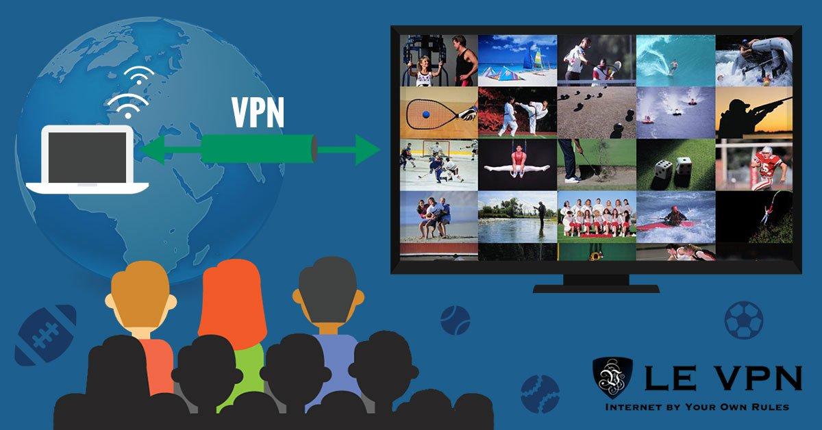Utilisez Le VPN pour suivre vos sports préférés est simple et rapide