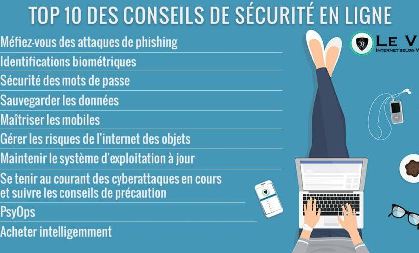 Top 10 des conseils de sécurité en ligne pour 2018. | Le VPN