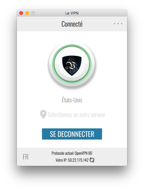 Le VPN app | connexion USA