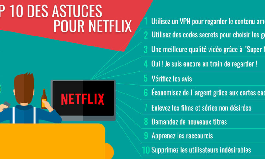 Les 10 meilleures astuces pour Netflix qui vont changer votre vie. | Le VPN