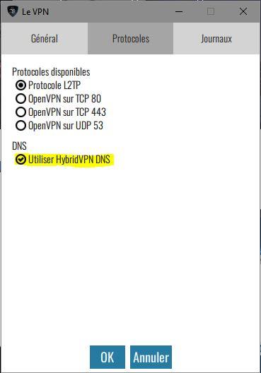 HybridVPN DNS pour Netflix