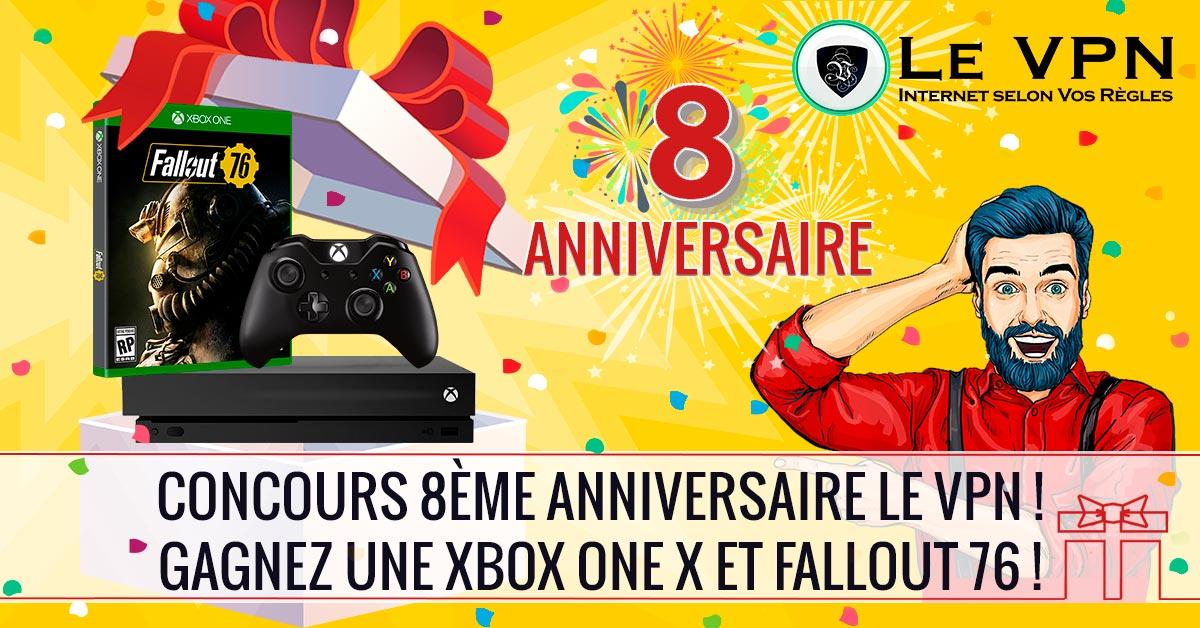 Concours d'anniversaire Le VPN : Une chance de gagner une Xbox One X avec Fallout 76 !