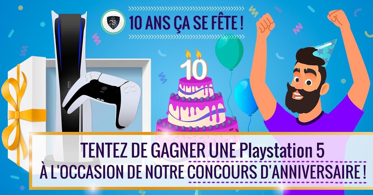Participez au concours Le VPN pour notre 10ème anniversaire du 10 au 20 novembre 2020 et gagnez une PlayStation 5 !