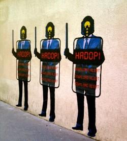 VPN for online privacy: Hadopi graffiti in Paris