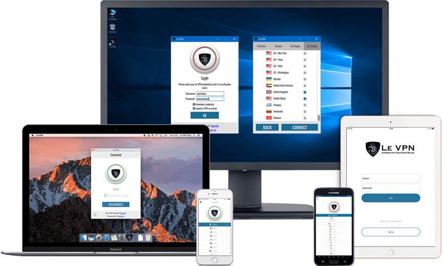 Le VPN products and services