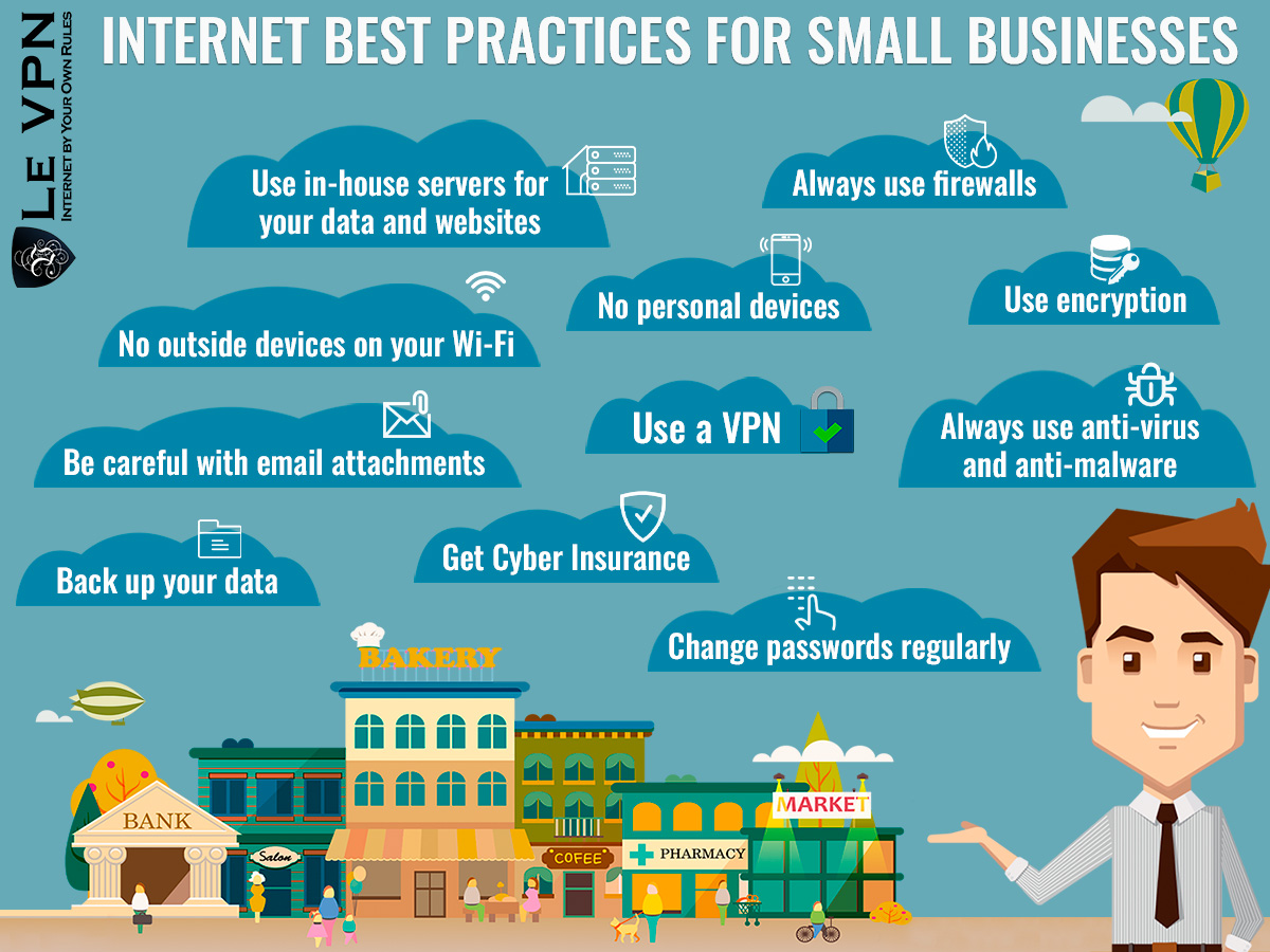 Internet Best Practices For Small Businesses | online VPN services for small businesses | how to protect your small business from cyberthreats | Le VPN