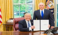 President Donald Trump Signs Executive Order On Cyber Security