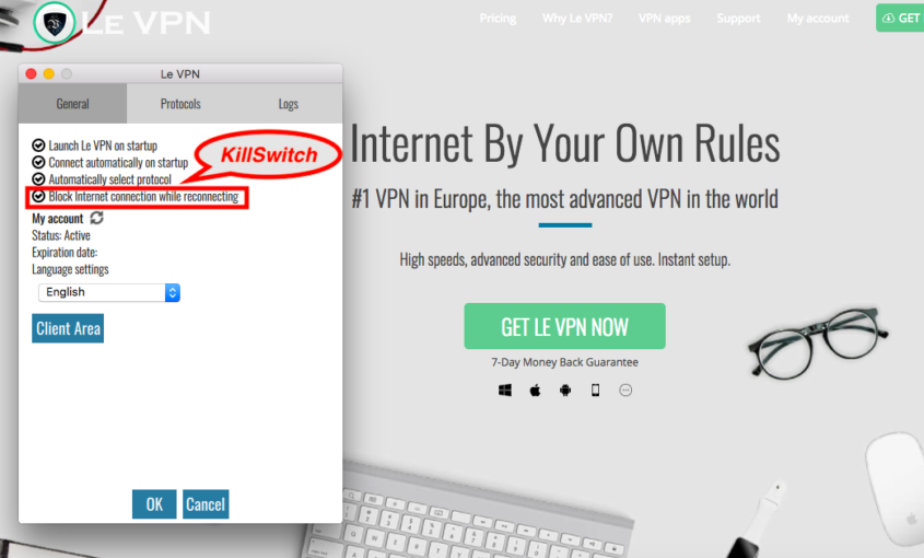 VPN Kill Switch: what is Kill Switch and why only use VPN with kill switch function? All you need to know about VPN Kill Switch: What is Kill Switch? Why only use VPN with kill switch function & where to find it in Le VPN app? | Le VPN