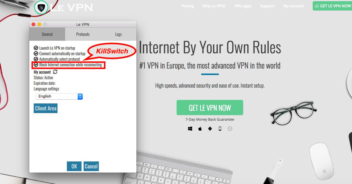 VPN Kill Switch: what is Kill Switch and why only use VPN with kill switch function? All you need to know about VPN Kill Switch: What is Kill Switch? Why only use VPN with kill switch function & where to find it in Le VPN app?