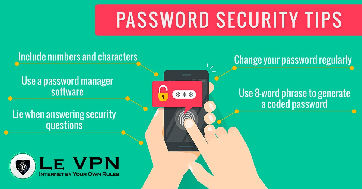 Password security tips | network security | password security | Le VPN