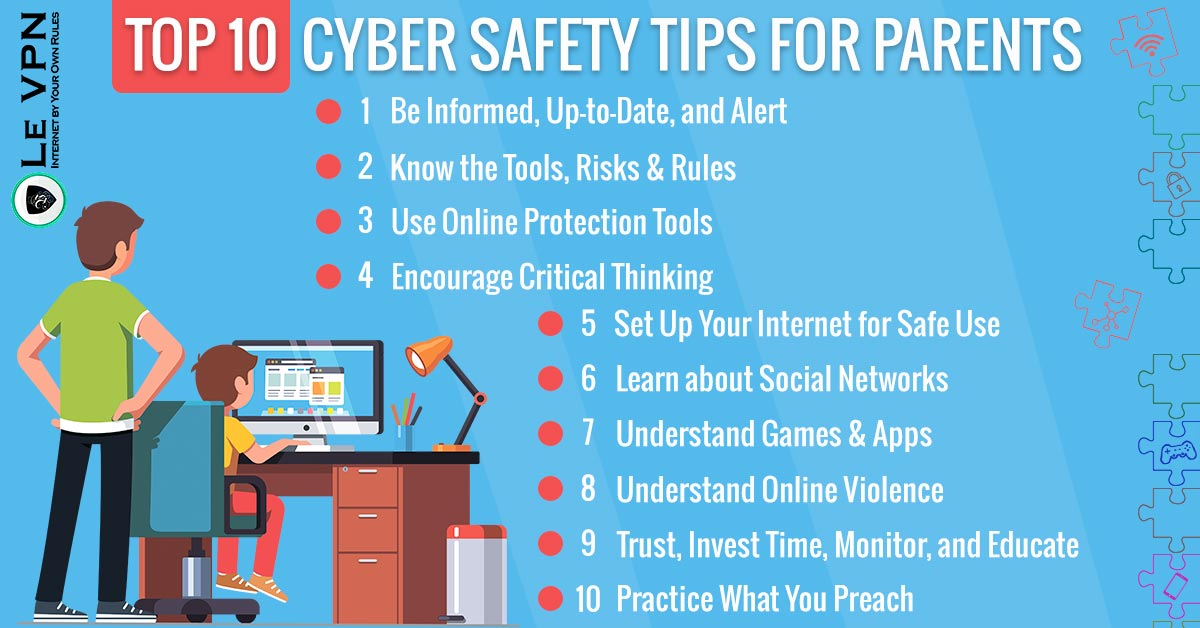 Top 10 Cyber Safety Tips for Parents | Children Cyber Security | Le VPN