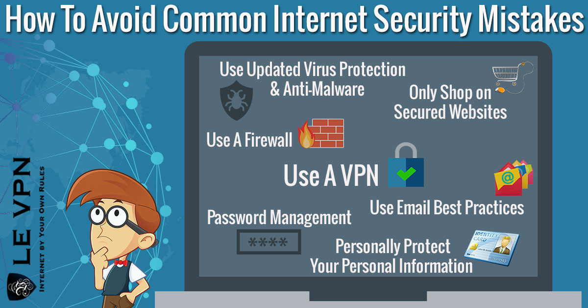 Bad online habits that impact your internet safety. | Le VPN