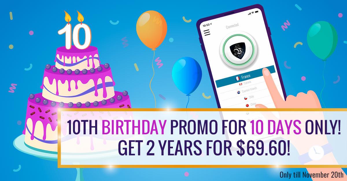 Le VPN Birthday Special | VPN promotion | VPN discount | free VPN | VPN deal | VPN special deal