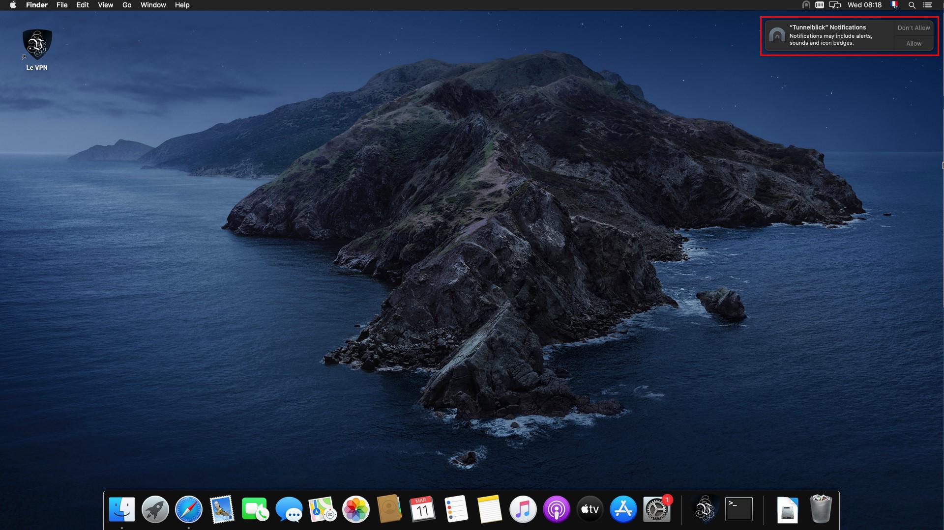 Le VPN MacOS OpenVPN Tunnelblick